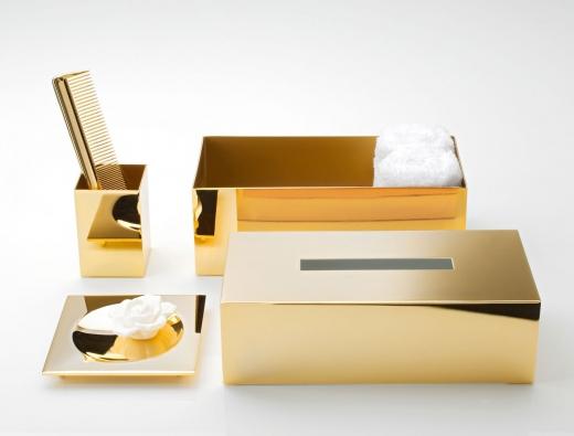 פריטים משלימים לחדר הרחצה בצבע זהב- חזי בנק